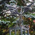 Gargoyles at Stephen King House Bangor Maine