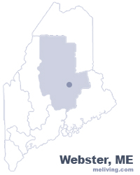 Webster Maine  Map