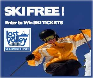 Ski Lost Valley Maine for FREE! Enter to win Ski Tickets! Click Here.