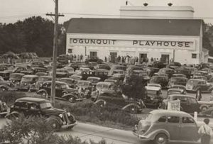 The Ogunquit Playhouse was busy in 1937. This historic Playhouse is located on US Route 1.