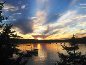 Sunset Cliff View Blue Hill Maine