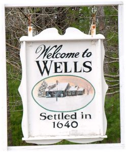 Wells Maine Sign