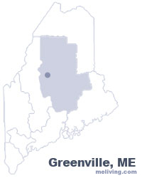 Greenville Maine  Map