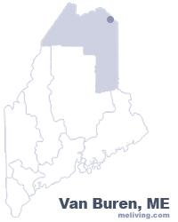 Van Buren Maine  Map