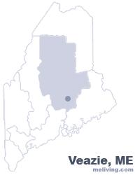 Veazie Maine  Map