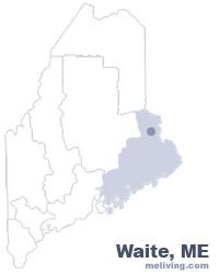 Waite Maine  Map