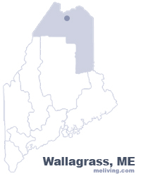 Wallagrass Maine  Map