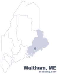 Waltham Maine  Map