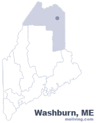 Washburn Maine  Map