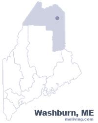 Washburn Maine  Map