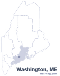 Washington Maine  Map