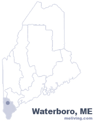 Waterboro Maine  Map