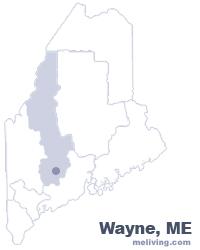 Wayne Maine  Map