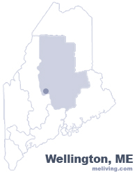 Wellington Maine  Map