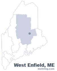 West Enfield Maine  Map