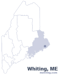 Whiting Maine  Map