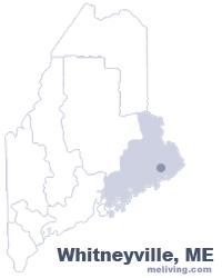 Whitneyville Maine  Map