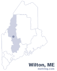 Wilton Maine  Map