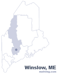 Winslow Maine  Map