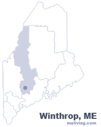 Winthrop Maine  Map