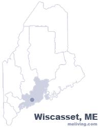 Wiscasset Maine Map