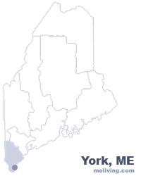 York Maine Map